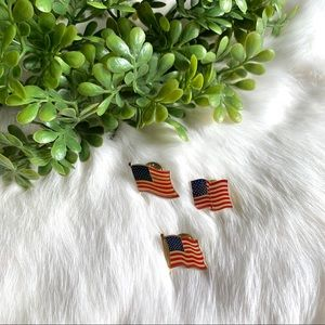 Vintage Patriotic American Flag Brooches Bundle